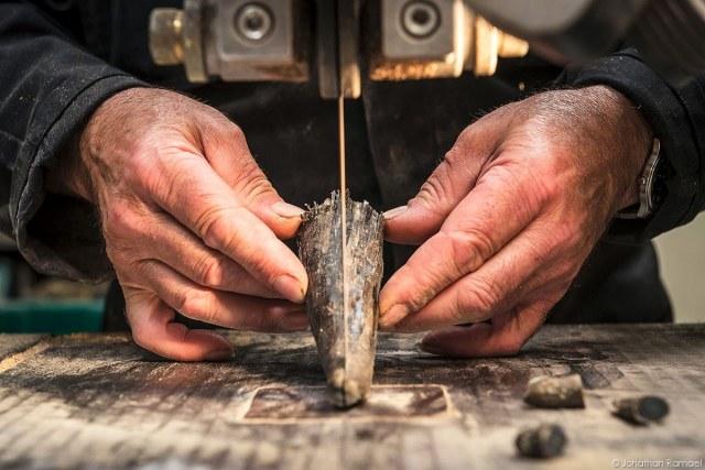 Messenmakerij Laguiole – Handvat uit koehoorn